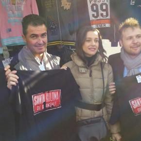 Juan Carlos Girauta, Inés Arrimadas y Dimas Gragera visitan el Mercadillo de Singuerlín