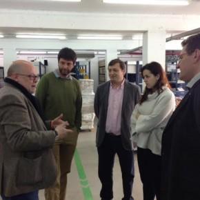 Els regidors de Ciutadans visiten la Fundació Tallers acompanyats pel Senador Xavier Alegre
