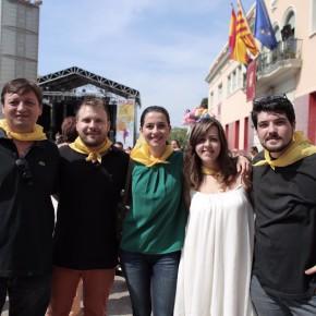 Inés Arrimadas visita la Fiesta Mayor de Santa Coloma de Gramenet