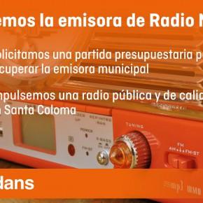 C's Santa Coloma solicita la recuperación de la Radio Municipal