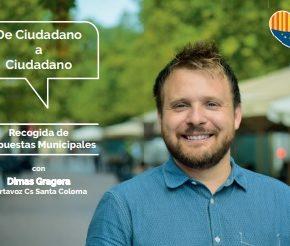Cs Santa Coloma inicia una campaña de recogida de propuestas municipales en todos los barrios de la ciudad