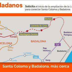 Cs exige al Govern agilizar la finalización de la conexión del metro L1 entre Santa Coloma y Badalona