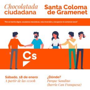 Ciudadanos (Cs) inaugura este sábado la campaña #barrioabarrio con un acto en Can Franquesa en el que se reclamará la mejora de la movilidad en el barrio