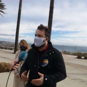 Dimas Gragera diputado y candidato del territorio al Parlament de Catalunya, visita el litoral de Badalona y Sant Adrià del Besòs