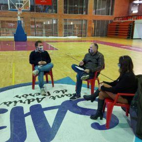 El candidato al Parlament, Dimas Gragera, junto con el Grupo Municipal de Ciudadanos Sant Adrià del Besòs se ha reunido con entidades deportivas de la ciudad para escuchar sus reivindicaciones